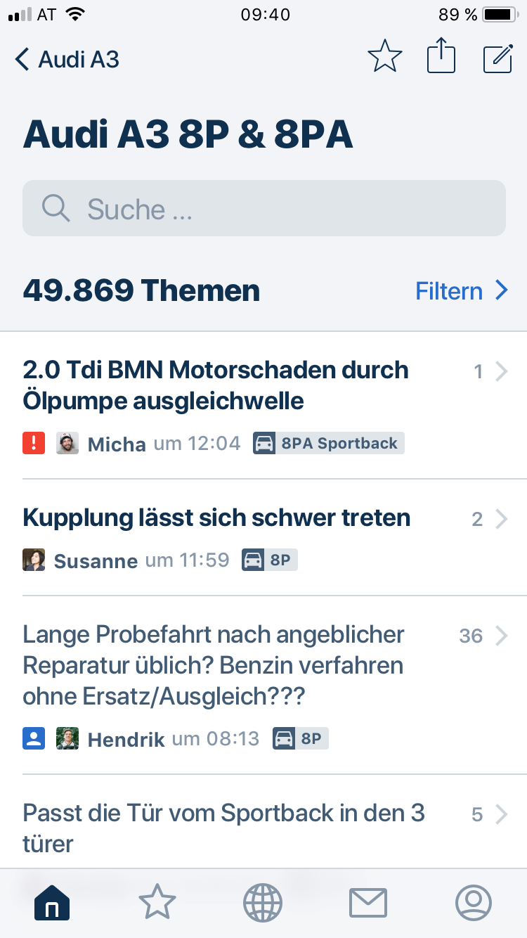 Motor-Talk App Screenshot